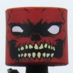 Zombie Red Skull