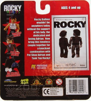 Rocky Minimates Previews Exclusive First Date Tank Top Rocky Stallone