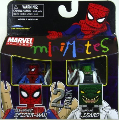 Marvel Minimates Series 37 Six-Armed Spider-Man /& Silver Age Lizard